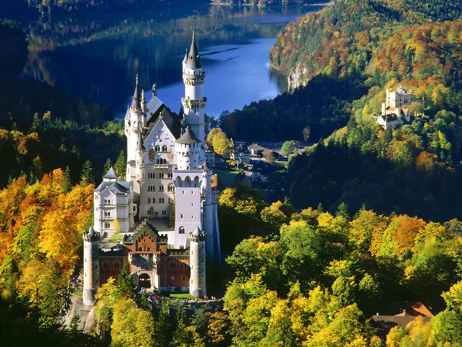 Обои юго-западная, бавария, германия, замок. Города foto 14