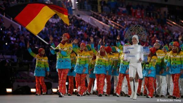 Германия на открытии игр в Сочи