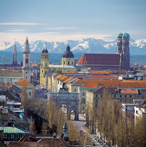 Замечательный вид Мюнхена