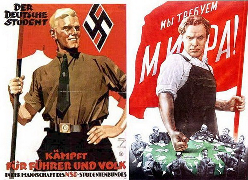 Агітаційні плакати СРСР і Третього Рейху 2