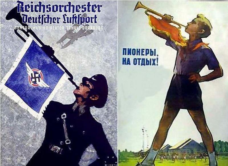 Агитационные плакаты ссср и германии